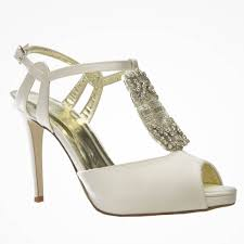 audrey by freya rose art deco t bar wedding shoes with crystal