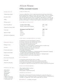 Office Assistant Resume Template Sample Resume For Working Students With No Work Experience No Work