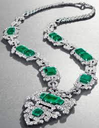 cartier u0027s art deco emerald and diamond sautoir necklace
