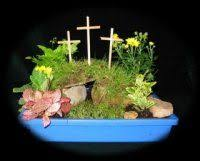 Easter Garden Decorating Ideas For Church by Easter Garden An Easter Creche We Have A Nativity Set For