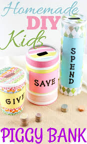 homemade piggy bank ideas easy crafts for kids