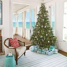 Homes Decorated For Christmas On The Inside Coastal Christmas Trees Coastal Living