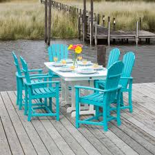 Polywood Long Island Recycled Plastic Polywood Dining Sets Outdoor Poly Wood Patio Furniture Dining Set