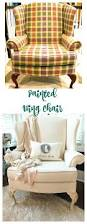 How To Make A Wing Chair Slipcover Painted Wing Chair It Worked 2 Bees In A Pod