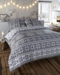 innsbruck flannelette scandinavian grey double quilt duvet cover