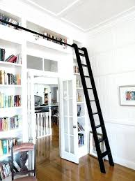Rolling Ladder Bookcase Bookcase Library Bookshelves With Ladder Library Bookcase With
