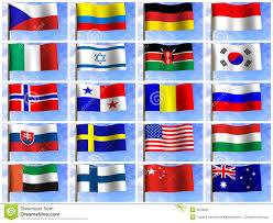 Flags Of Countries Collage From Flags Of The Different Countries Stock Illustration