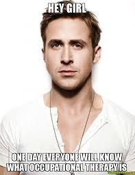 Occupational Therapy Memes - hey girl one day everyone will know what occupational therapy is