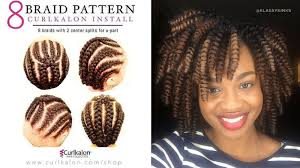 cornrows hairstyle with part in the middle 5 crochet braid patterns to help you slay your protective style
