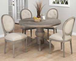 dining room grey washed round dining table fine ideas home design