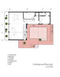 Underground Home Floor Plans by Gallery Of Villa For Anna And Saeed Logical Process In
