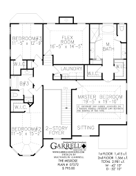 Floor Plans Two Story by Melrose House Plan Master Up