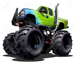 monster trucks clipart cartoon monster truck royalty free cliparts vectors and stock