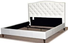 white leather diamond tufted headboard home design ideas