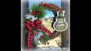 grapevine christmas wreath youtube