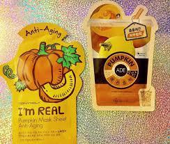 pumpkin mask 毎日ビューティー review sheet mask shenanigans tony moly i m