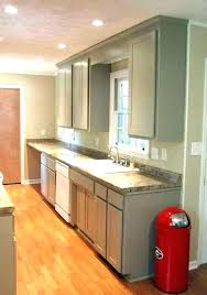 what is the best lighting for a galley kitchen galley kitchen lighting ideas pictures