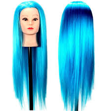 online cheap blue hairdressing training head practice doll model