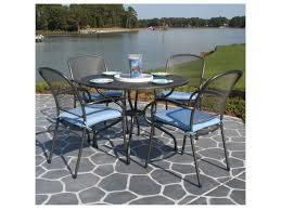 36 Patio Table Kettler 36 Square Mesh Top Bar Table
