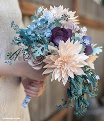 wedding flowers rustic diy rustic paper bridal bouquet lia griffith