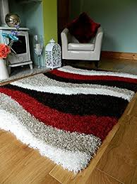 Shaggy Cream Rug Red Brown Cream Shaggy Rugs New Small Large Thick 5cm Pile Height