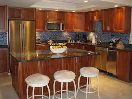 classy rounded backless stools also dark granite top kitchen