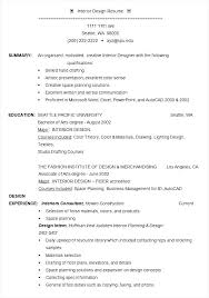 Interior Design Sample Resume by Interior Designer Resume Example Template Free Samples