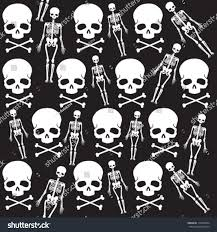 Halloween Skeleton Pattern by Seamless Skull Pattern Halloween Any Other Stock Vector 115350694
