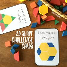 2d shape pattern block challenge cards you clever monkey