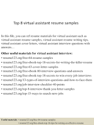 virtual assistant resume resume for your job application