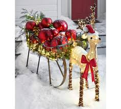 outdoor burlap reindeer pottery barn