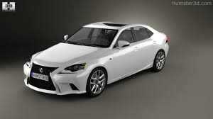 lexus isf white 360 view of lexus is f sport xe30 2013 3d model hum3d store