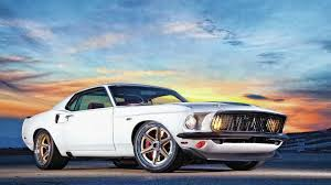 Ford Muscle Cars - download wallpaper 3840x2160 ford mustang muscle car white side