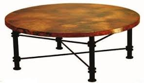 Coffee Table With Metal Base by Round Coffee Table Tuscan Coffee Table Copper Coffee Table