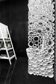 Pvc Room Divider by Decorative Room Dividers Made Of Plastic Pipes Modern Interior