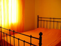 fantastic small orange bedroom ideas with full orange decoration
