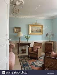 antique blue living room