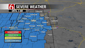 Severe Weather Map Severe Weather Moving Across Green Country Newson6 Com Tulsa