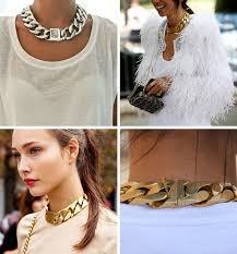 chunky chain choker necklace images Are statement and chunky chain necklaces still trending nolita jpg