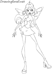 draw bloom winx club drawingforall net