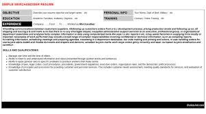 Visual Merchandising Resume Sample by Merchandiser Resume Resume Badak