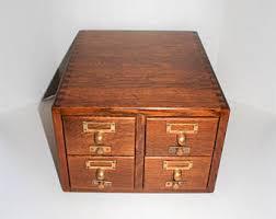 Oak File Cabinet 4 Drawer Vintage Antique File Cabinet Etsy
