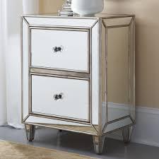 hammary hidden treasures 2 drawer nightstand mirrored hayneedle