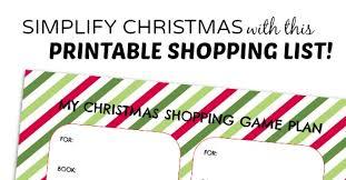 christmas shopping list a christmas shopping list printable to simplify the holidays