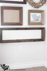 Wall Molding Diy Molding Frame The Wood Grain Cottage
