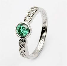 birthstone ring birthstone silver celtic ring ls sl94 5