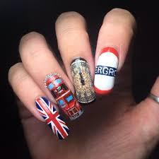 london themed nail art u2013 polished inka