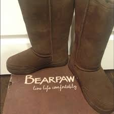 bearpaw womens boots size 11 paw size 7 brown bearpaw boots box included from bubbles