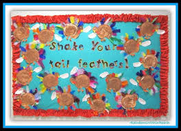 shake your feathers thanksgiving bulletin board idea