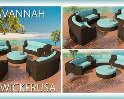 Savannah Outdoor Furniture by Savannah Round Outdoor Wicker Sectional Sofa Patio Furniture In
